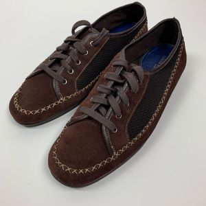 What's What by Aerosoles Brown Suede Sneakers